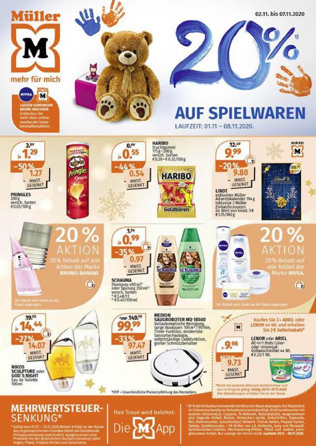 20% auf Spielwaren . Müller (2020-11-07-2020-11-07)