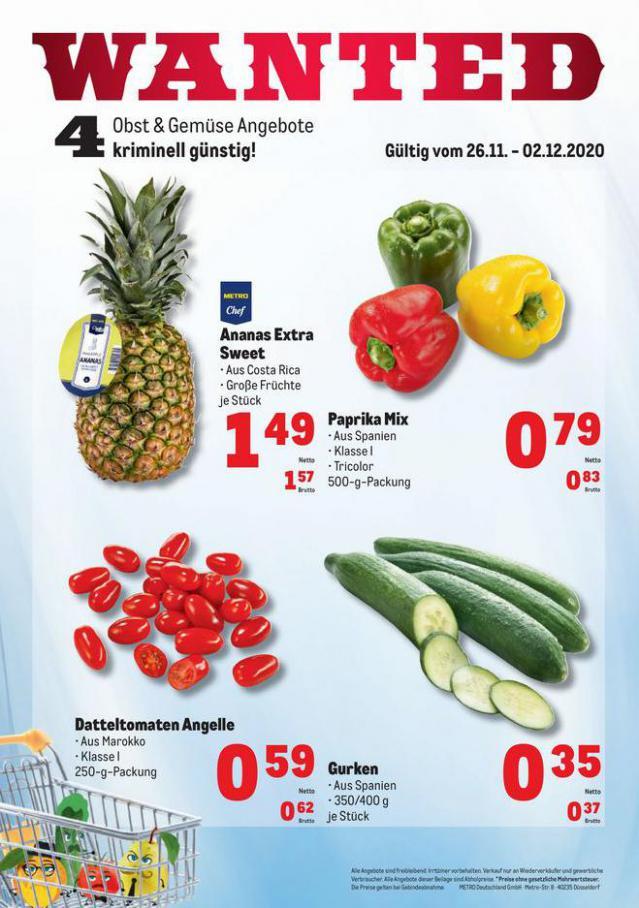Obst & Gemüse Frischepreise . Metro (2020-12-02-2020-12-02)