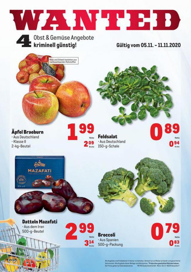 Obst & Gemüse Frischepreise . Metro (2020-11-11-2020-11-11)