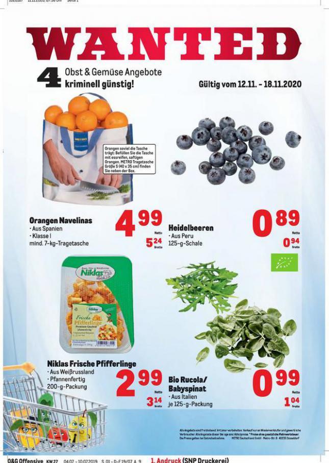 Obst & Gemüse Frischepreise . Metro (2020-11-18-2020-11-18)