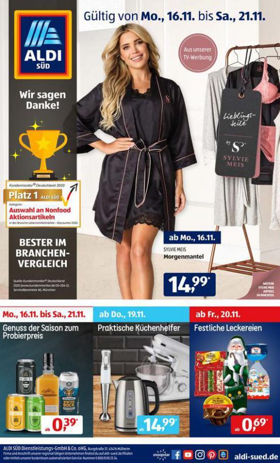 Aldi Süd flugblatt . Aldi Süd (2020-11-21-2020-11-21)
