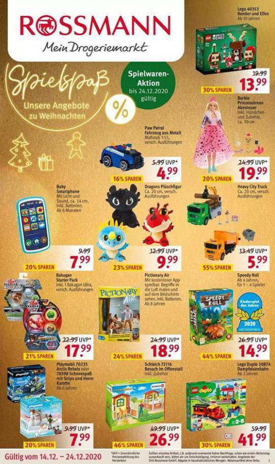 Spielspaß Unsere Angebote zu Weihnachten . Rossmann (2020-12-24-2020-12-24)