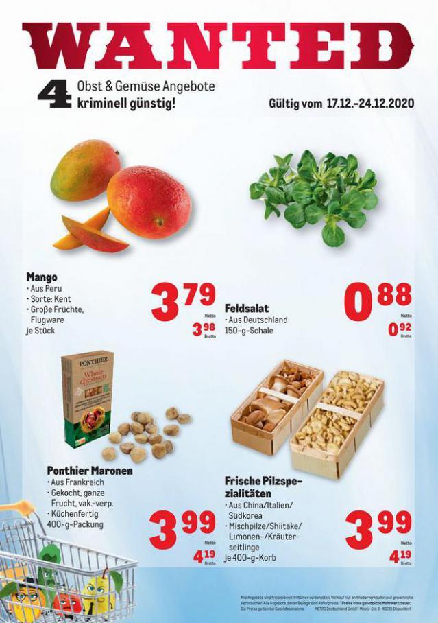 Obst & Gemüse Frischepreise . Metro (2020-12-24-2020-12-24)