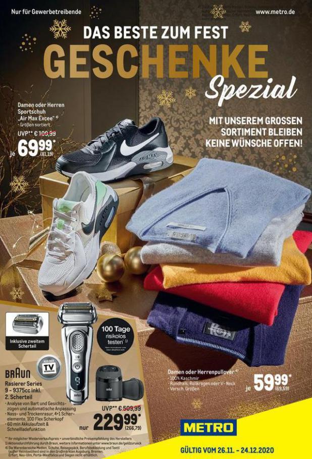 Geschenke Spezial . Metro (2020-12-24-2020-12-24)