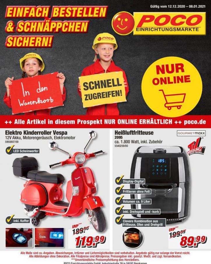 Einfach Bestellen & Schnäppchen Sichern! . Poco (2021-01-08-2021-01-08)