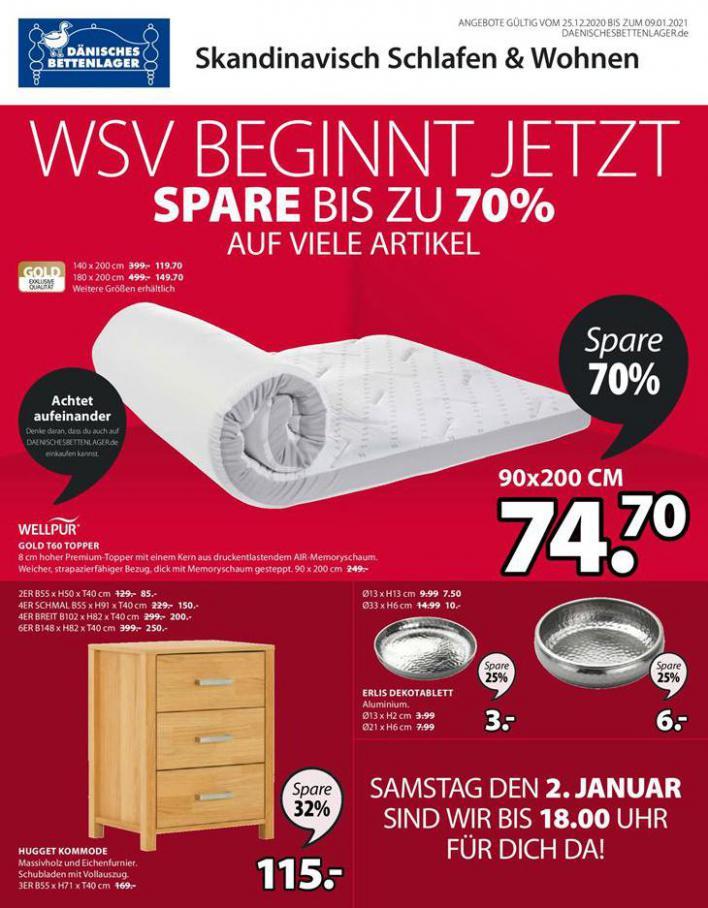 WSV beginnt jetzt spare bis zu 70% . Dänisches Bettenlager (2021-01-09-2021-01-09)