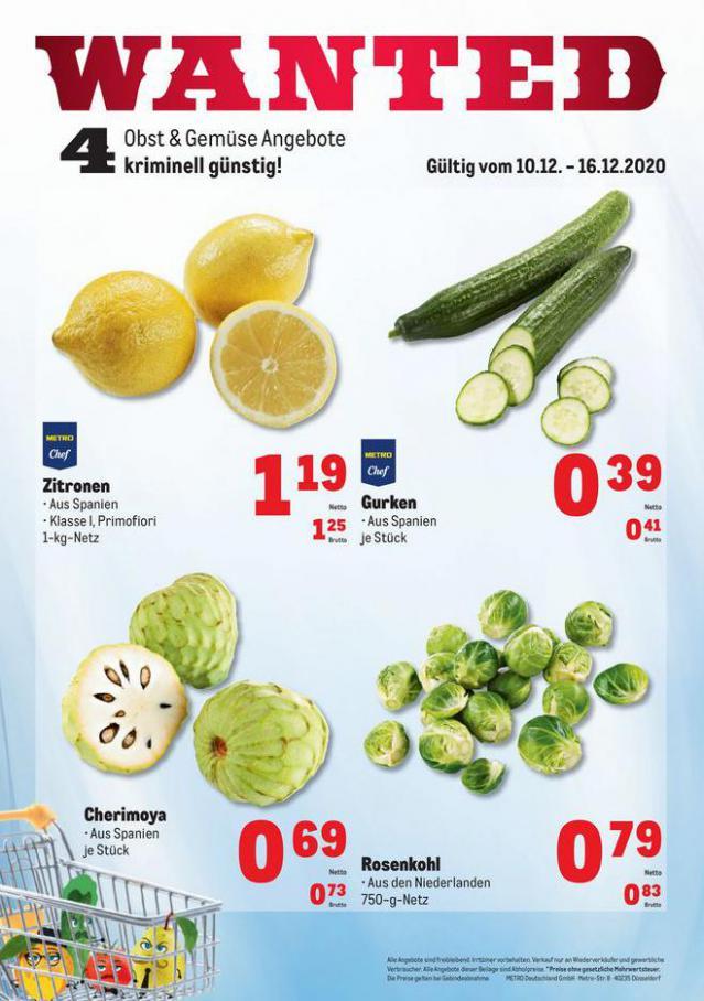 Obst & Gemüse Frischepreise . Metro (2020-12-16-2020-12-16)