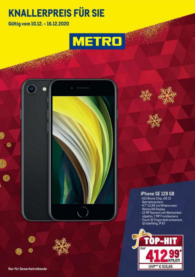 Knallerartikel Smartphone . Metro (2020-12-16-2020-12-16)