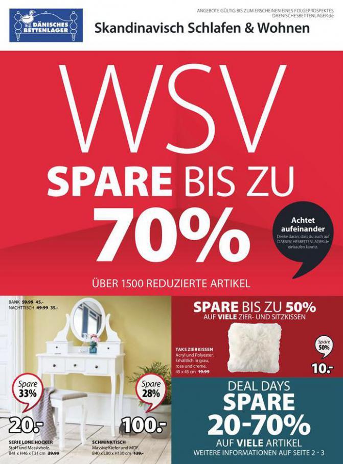 WSV Spare bis zu 70% . Dänisches Bettenlager (2021-01-16-2021-01-16)