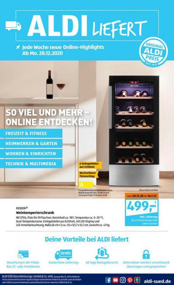 Aldi Süd flugblatt . Aldi Süd (2021-01-16-2021-01-16)
