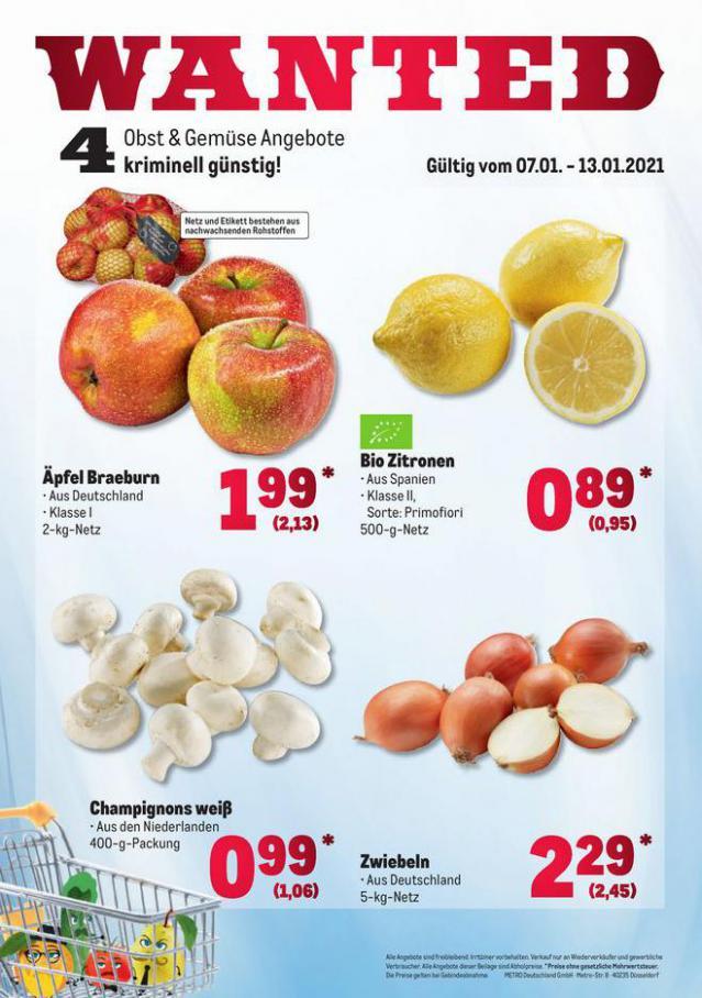 Obst & Gemüse Frischepreise . Metro (2021-01-13-2021-01-13)