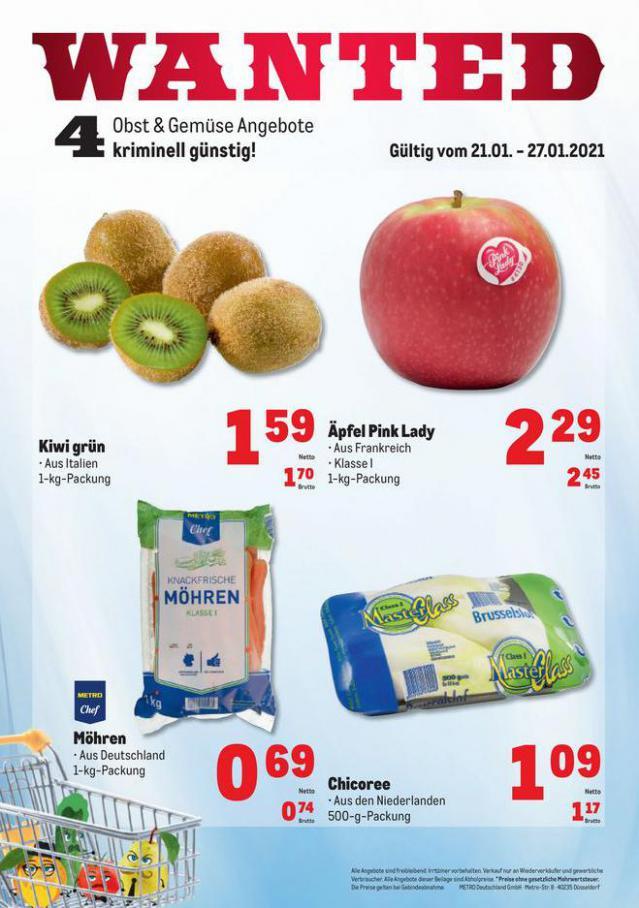 Obst & Gemüse Frischepreise . Metro (2021-01-27-2021-01-27)