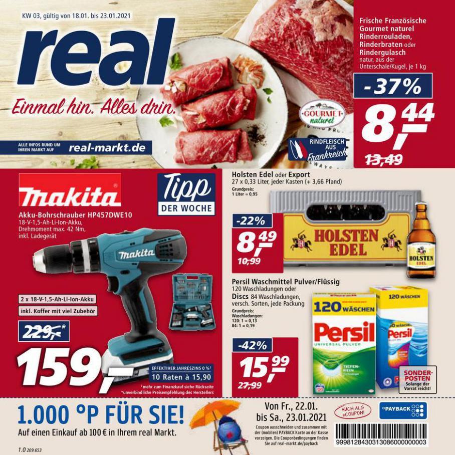 Prospekt Woche 3 . real (2021-01-23-2021-01-23)
