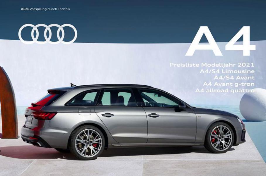 A4 Preisliste Modelljahr 2021 . Audi (2021-12-31-2021-12-31)