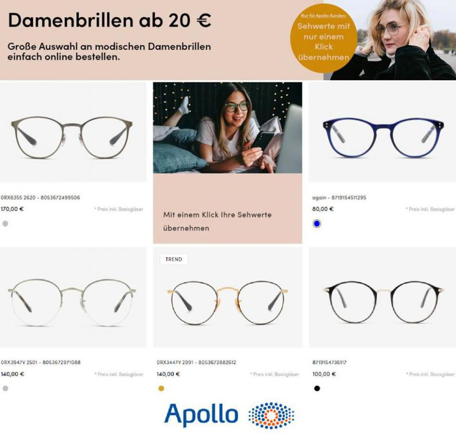 Damenbrillen . Apollo Optik (2021-01-24-2021-01-24)