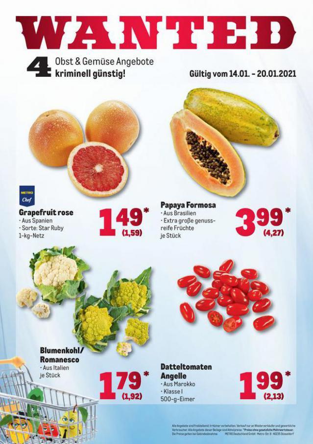 Obst & Gemüse Frischepreise . Metro (2021-01-20-2021-01-20)