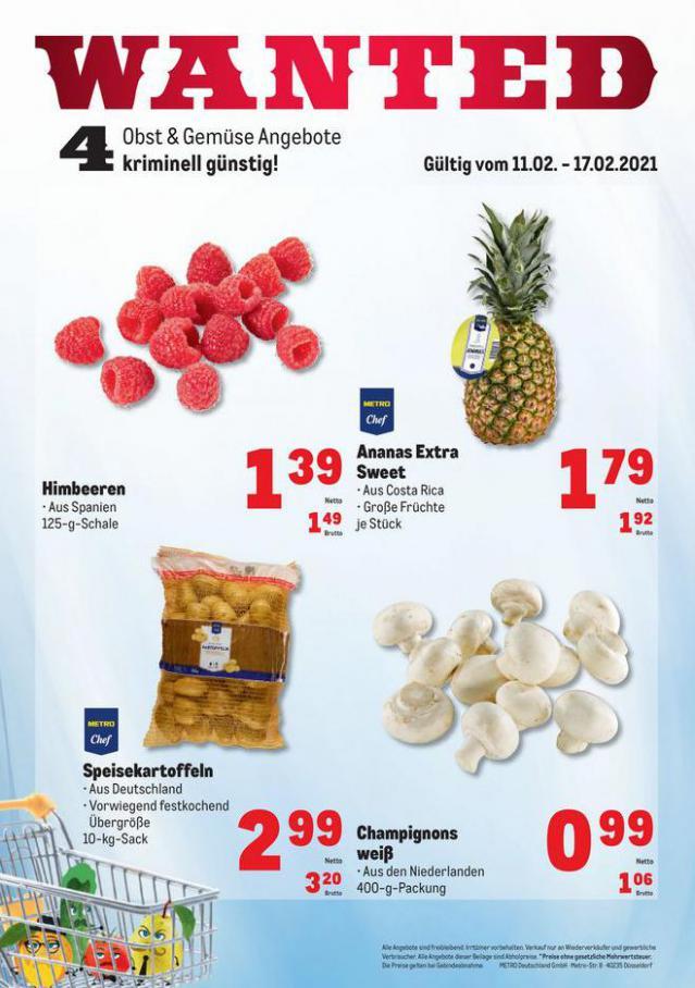 Obst & Gemüse Frischepreise . Metro (2021-02-17-2021-02-17)