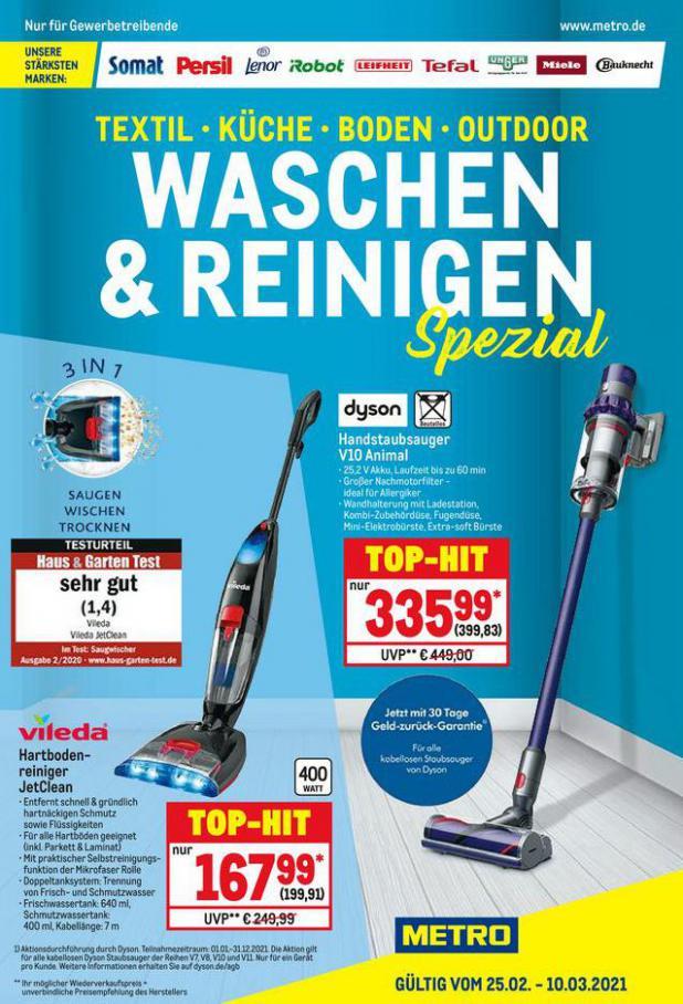 Waschen & Reinigen . Metro (2021-03-10-2021-03-10)