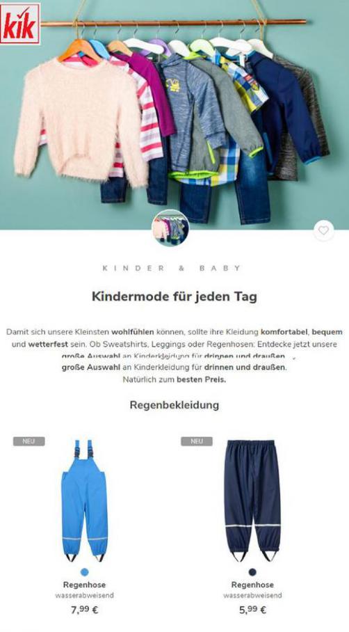 Kindermode für jeden Tag . KiK (2021-02-08-2021-02-08)