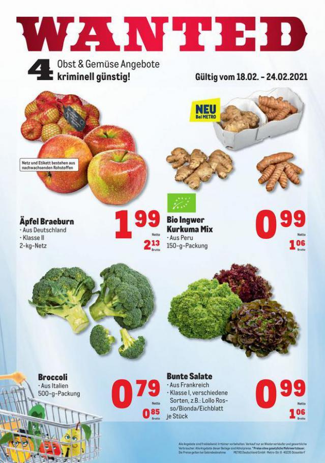 Obst & Gemüse Frischepreise . Metro (2021-02-24-2021-02-24)
