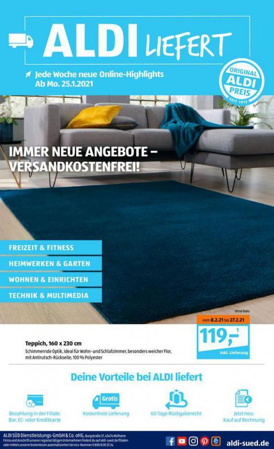 Aldi Süd flugblatt . Aldi Süd (2021-03-06-2021-03-06)