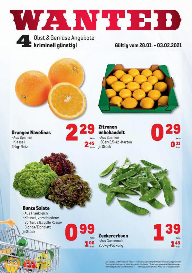 Obst & Gemüse Frischepreise . Metro (2021-02-03-2021-02-03)