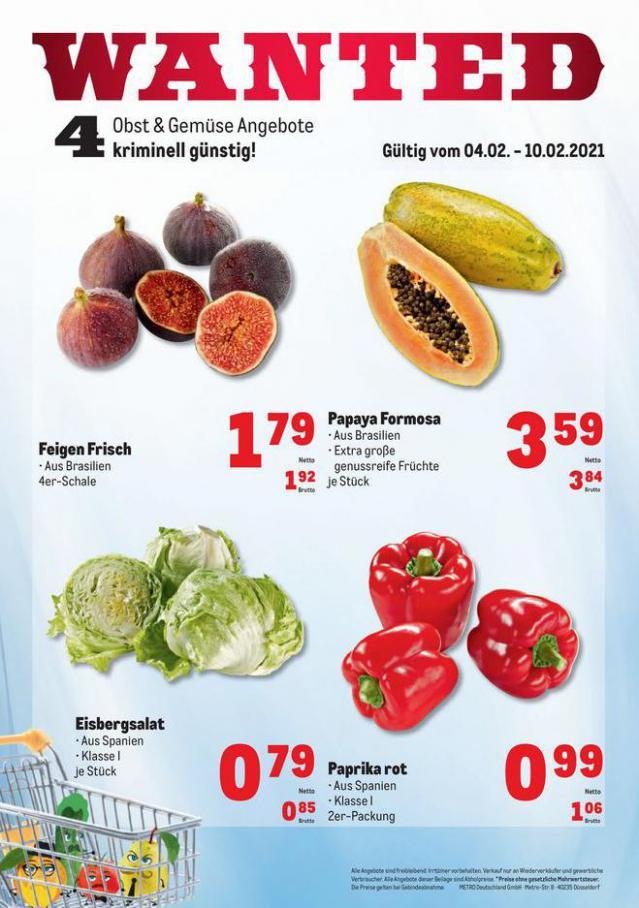 Obst & Gemüse Frischepreise . Metro (2021-02-10-2021-02-10)