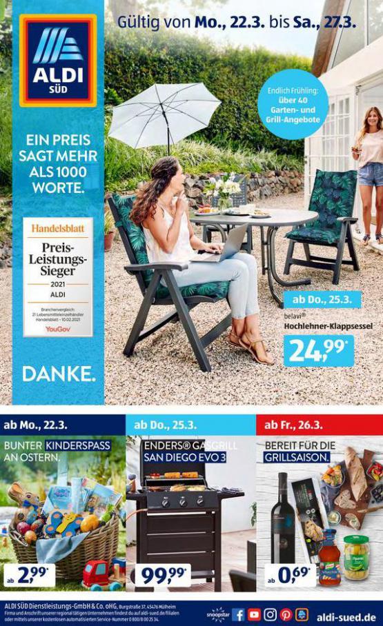 Aldi Süd flugblatt . Aldi Süd (2021-03-27-2021-03-27)
