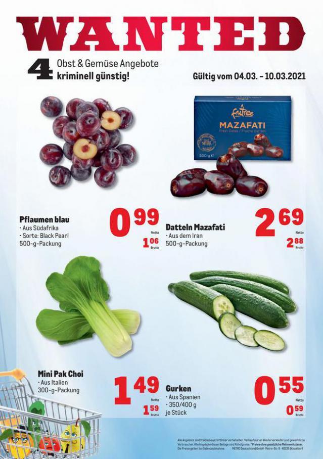 Obst & Gemüse Frischepreise . Metro (2021-03-10-2021-03-10)