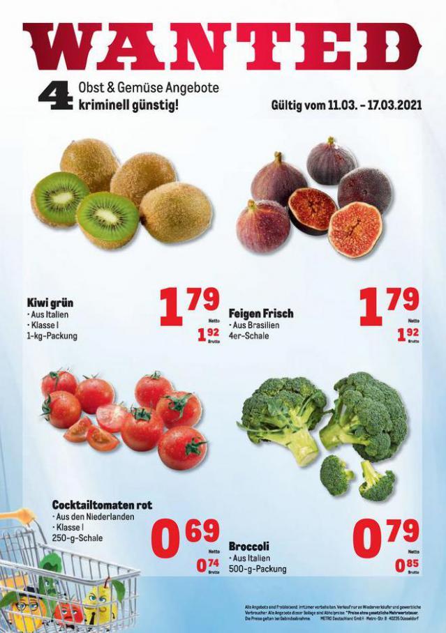 Obst & Gemüse Frischepreise . Metro (2021-03-17-2021-03-17)