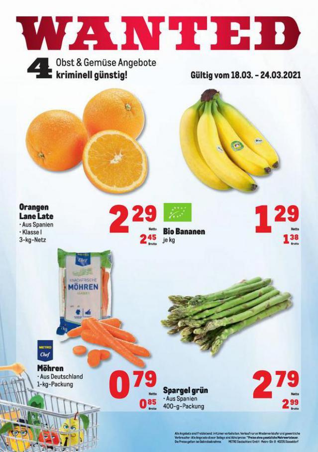 Obst & Gemüse Frischepreise . Metro (2021-03-24-2021-03-24)