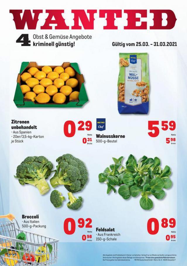 Obst & Gemüse Frischepreise . Metro (2021-03-31-2021-03-31)