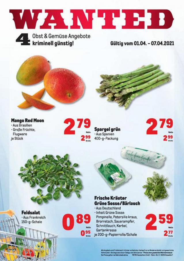 Obst & Gemüse Frischepreise . Metro (2021-04-07-2021-04-07)