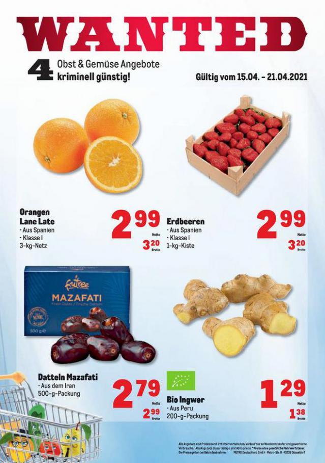 Obst & Gemüse Frischepreise . Metro (2021-04-21-2021-04-21)