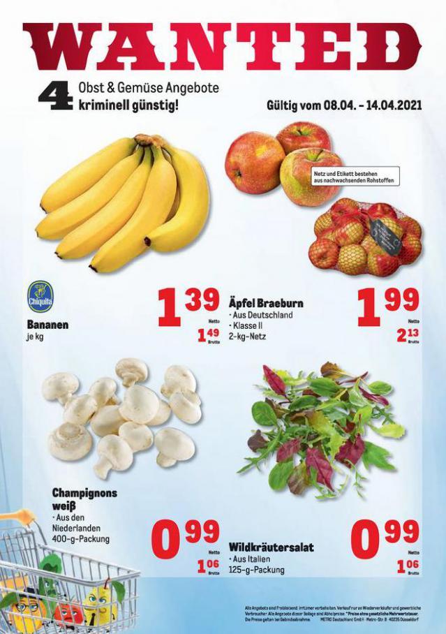 Obst & Gemüse Frischepreise . Metro (2021-04-14-2021-04-14)