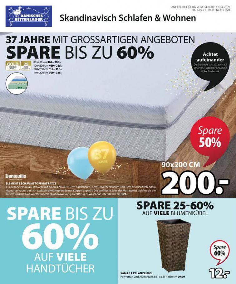 Angebote Prospekt  . Dänisches Bettenlager (2021-04-17-2021-04-17)