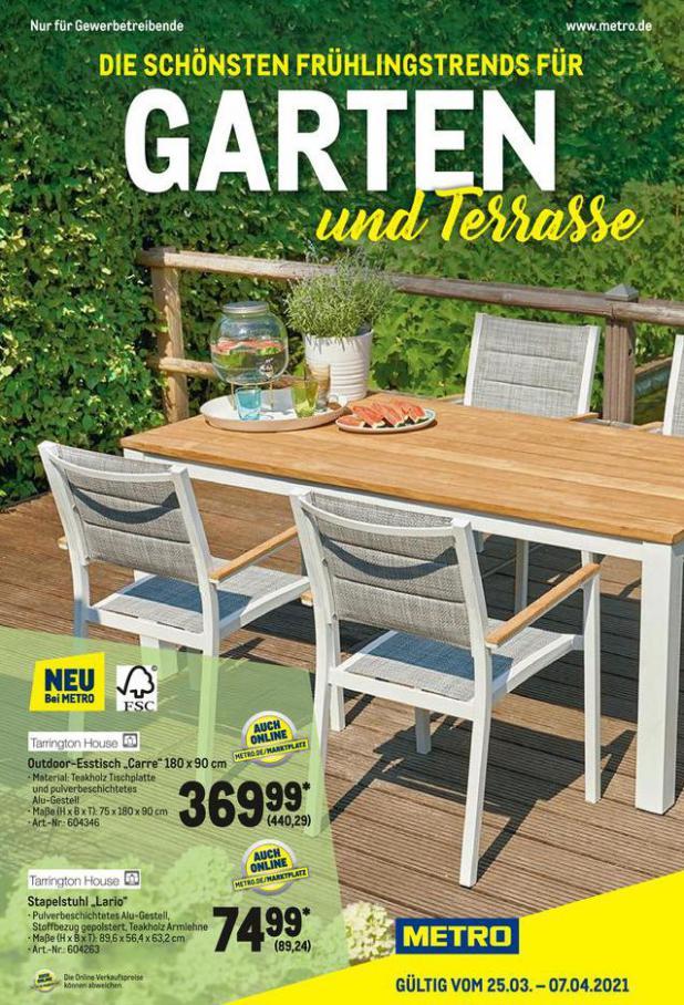 Garten und Terrasse . Metro (2021-04-07-2021-04-07)