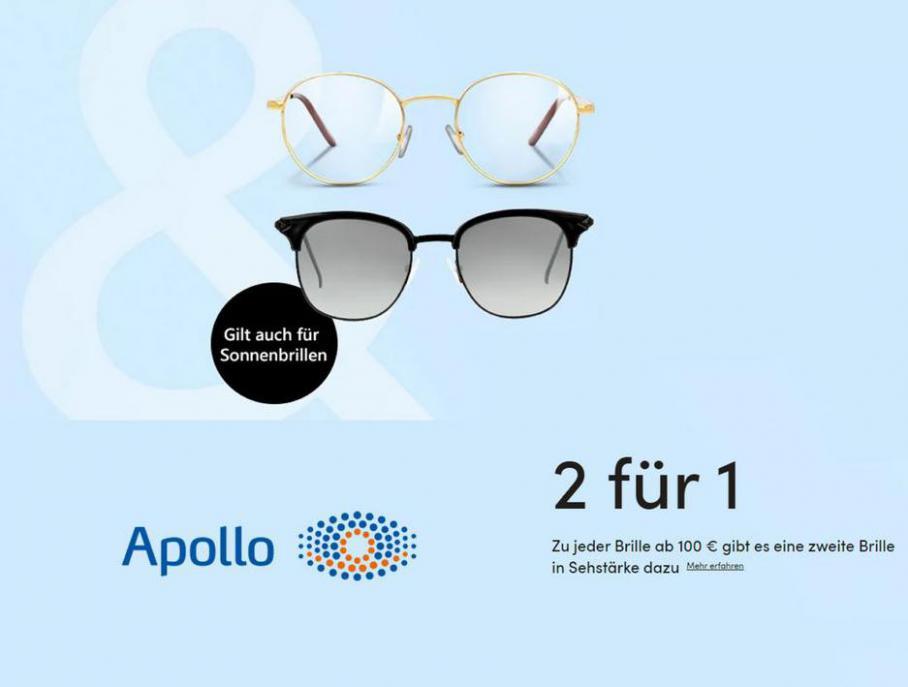 2 für 1 Angebote . Apollo Optik (2021-04-26-2021-04-26)