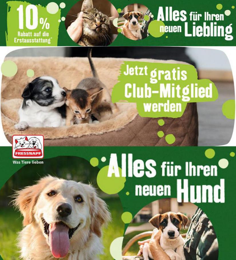 10% Rabatt auf die erste Ausstattung für Hunde oder Katzen . Fressnapf (2021-05-05-2021-05-05)
