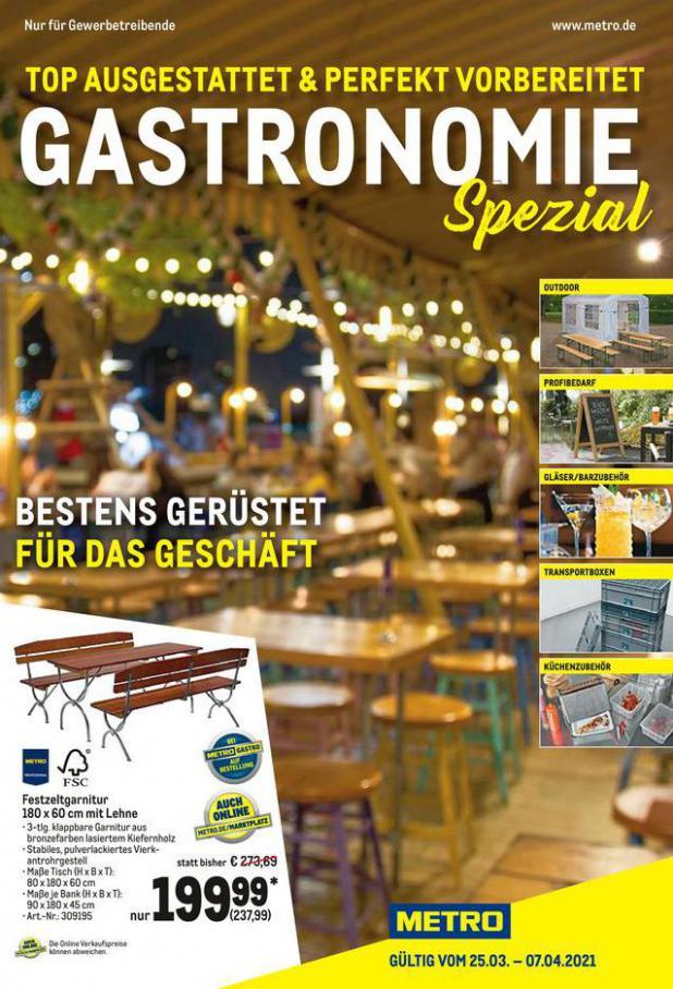 Gastronomie Spezial . Metro (2021-04-07-2021-04-07)