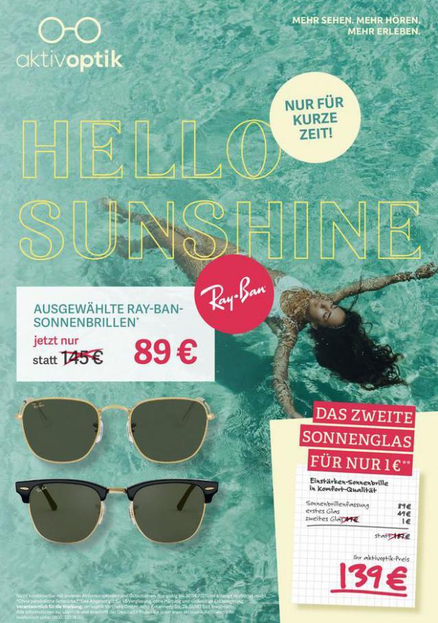Hello Sunshine . Aktiv Optik (2021-04-30-2021-04-30)