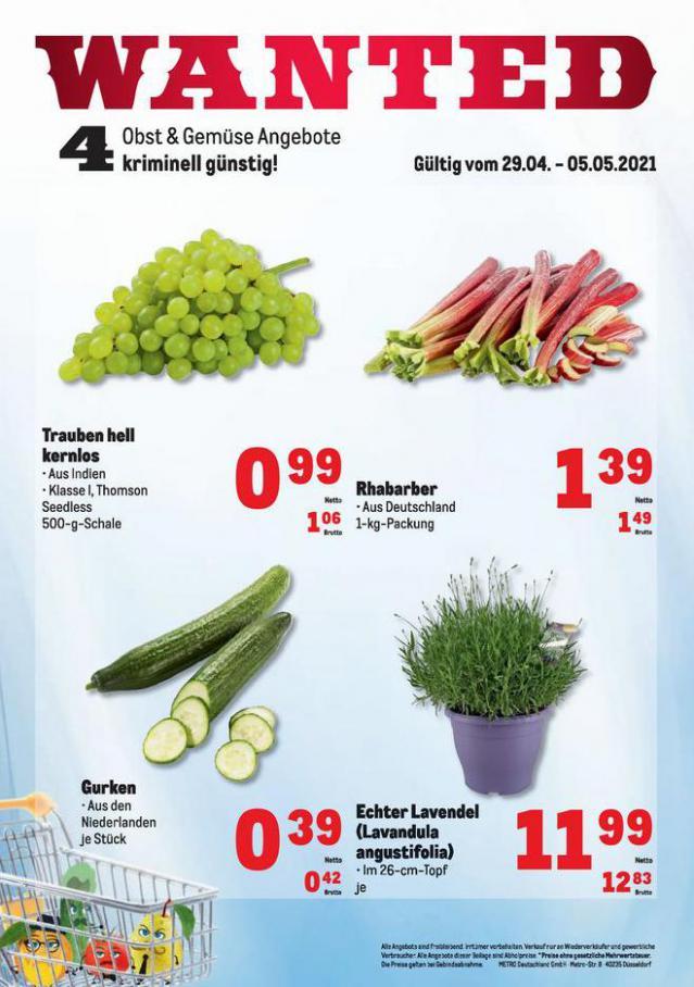 Obst & Gemüse Frischepreise . Metro (2021-05-05-2021-05-05)
