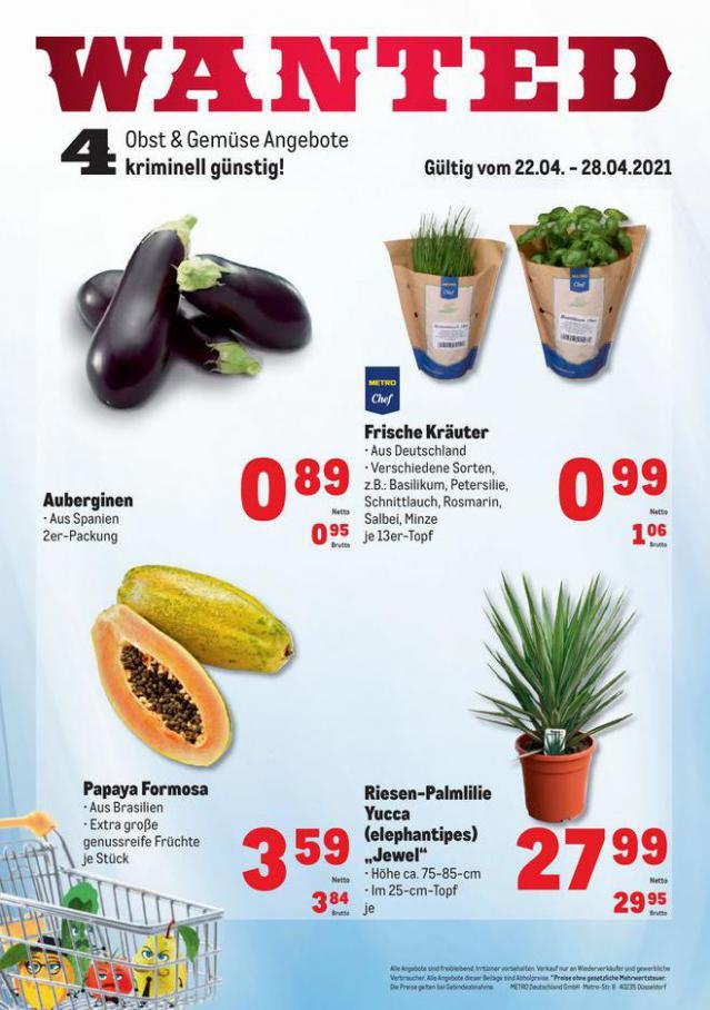 Obst & Gemüse Frischepreise . Metro (2021-04-28-2021-04-28)