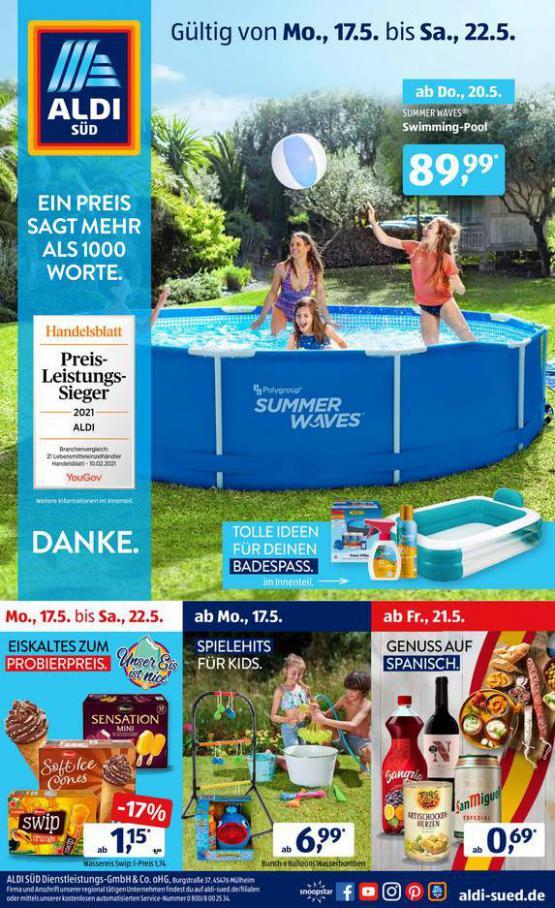 Aldi Süd flugblatt . Aldi Süd (2021-05-22-2021-05-22)