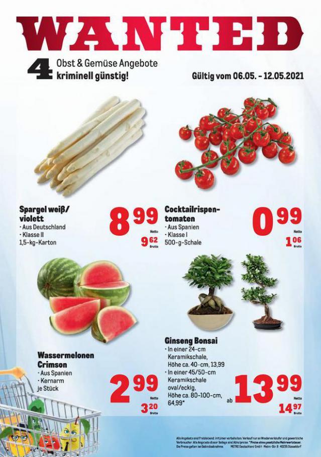 Obst & Gemüse Frischepreise . Metro (2021-05-12-2021-05-12)
