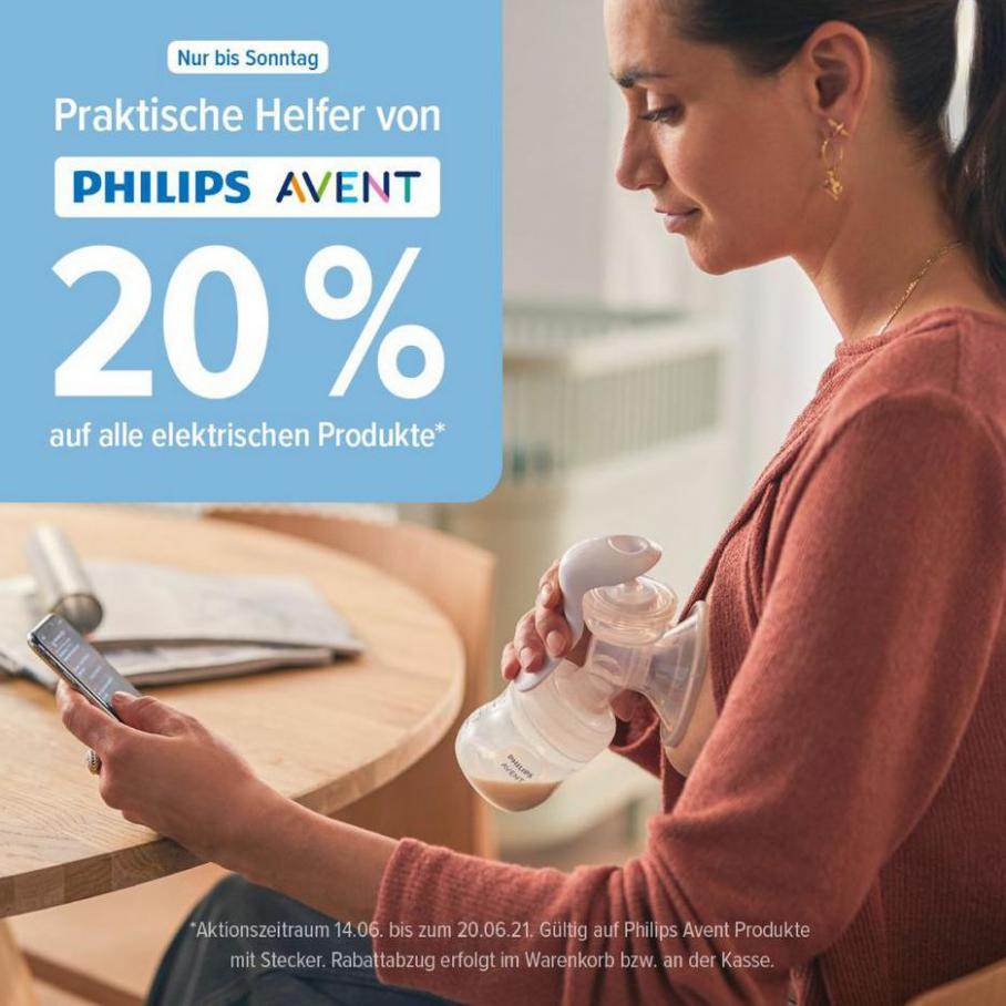 20% Rabatt * Philips Avent*. BabyOne (2021-06-20-2021-06-20)