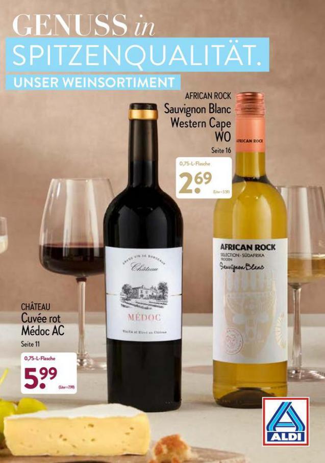 Aldi Weinsortiment. Aldi Nord (2021-10-31-2021-10-31)